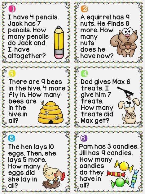 1st Grade Math Worksheets Addition Word Problems Download Them And Try To Solve Pendidikan Sekolah Dasar Belajar
