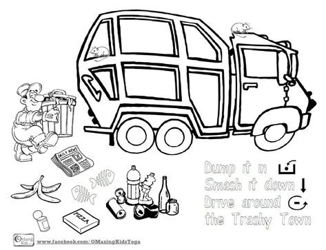 No Prep Grab Go Activity For Core Vocabulary Language Play Doh Rowdy The Garbage Truck And The Book T Core Vocabulary Truck Coloring Pages Garbage Truck