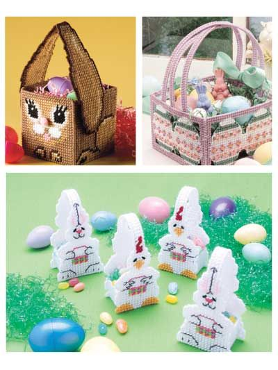 Easter Baskets plastic canvas patterns