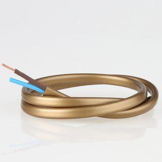 Pvc Lampenkabel Flachkabel Gold 2 Adrig 2x0 75mm H03 Vvh 2f Schwarz Farbe Lampe Gold
