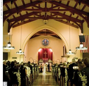 """Both Margo and Jonathan attended the Episcopal Church of the Good Shepherd growing up and felt it was the perfect place to say their """"I dos."""""""