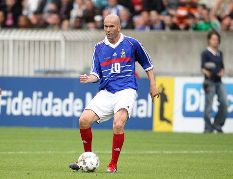 Zinedine Zidane participates in the Bernard Lama jubilee, gathering the teams of Paris-Saint Germain 1995, the Blackstars, and France 98 (won the World Cup 1998), held at the Parc des Prince in Paris. (June 11, 2011 - Source: PacificCoastNews.com)