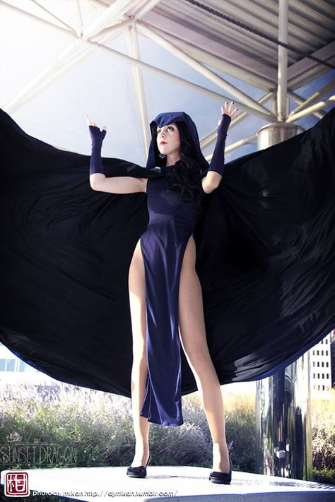 That dress! A beautiful Raven cosplay from Teen Titans! - 10 Raven Cosplays