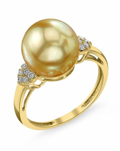 Old Egyptian Wedding Ring In 2020 Beautiful Pearl Rings Diamond Wedding Rings Sets Golden South Sea Pearls