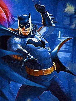 Amazon Com 5d Full Drills Diamond Painting Kits For Adults Dc Justice League Super Hero Batman Pattern Home Wall Dec Superhero Art Superman Artwork Batman Art