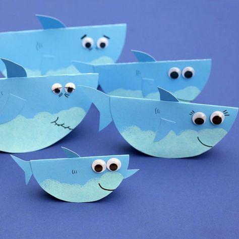 Rocking Paper Shark Family Preschool Craft Activities Preschool