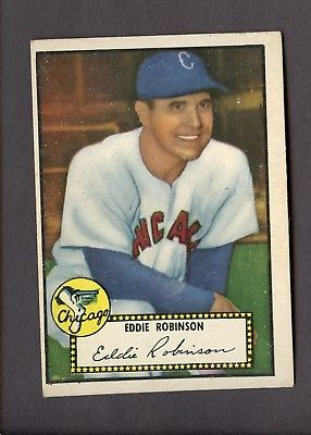1952 Topps 32 Eddie Robinson Chicago White Sox No Creases