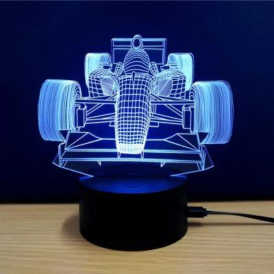 Colorful Racing Car Model 3d Led Table Lamp Sale Price Reviews Led Table Lamp Lamp Decorative Night Lights