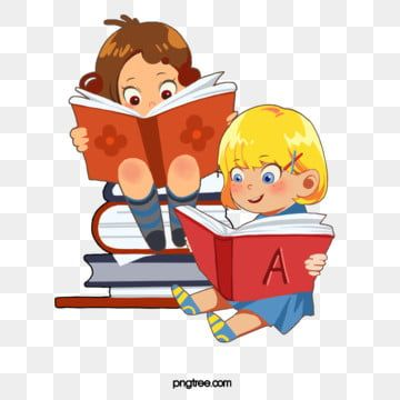 Small Children Reading A Book Reading Clipart Reading Book Png And Vector With Transparent Background For Free Download Kids Reading Books Art Wall Kids Cartoon Clip Art