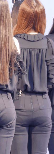 이달의소녀 팬티라인이 보이는 츄 엉덩이