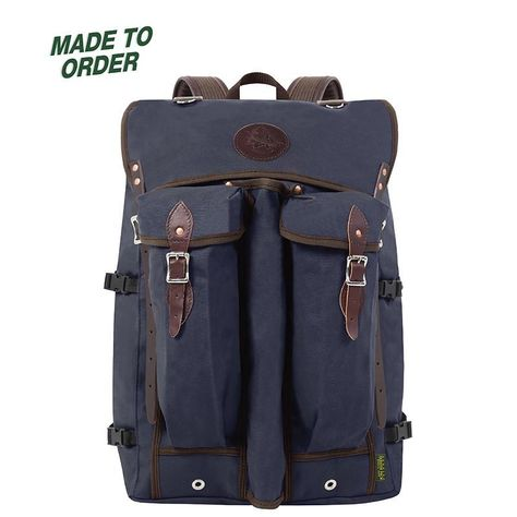 Genuine leatherpatch work soft touch backpack.