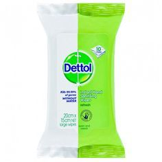 Dettol Instant Hand Sanitising Wipes 10 Wipes Hand Sanitizing Wipes