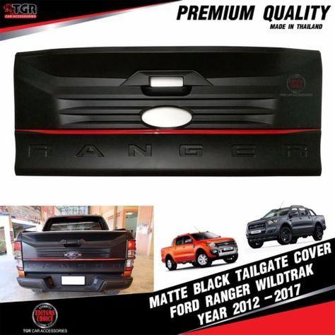 Matte Black Rear Tailgate Cover Facelift Ford Ranger Mk2 T6