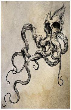 Skulltapus Tattoo Print 11x17