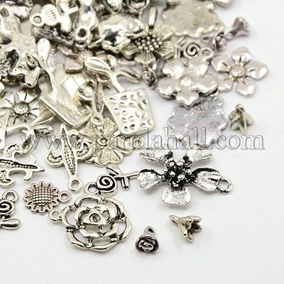 - Charming Beads LEAF - Pack 30 Grams Antique Silver Tibetan Random Shapes /& Sizes Charms HA07475