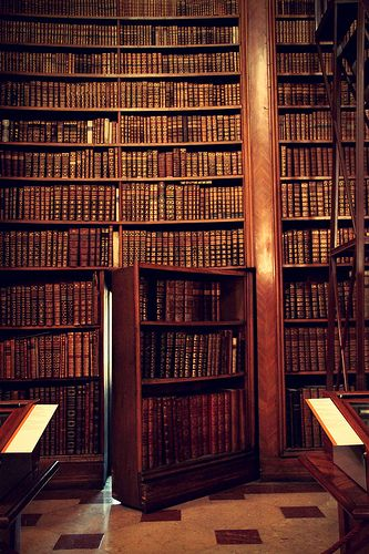Austrian National Library in Vienna. Because secret rooms are a necessary feature in any library. Beautiful Library, Dream Library, Library Books, Vienna Library, Music Library, Hidden Rooms, Home Libraries, Public Libraries, Secret Rooms