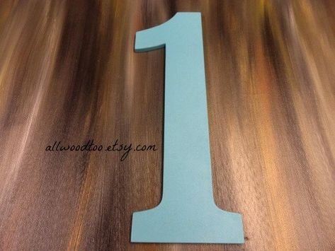 First Birthday Number One Photo Props For Kids Wooden Numbers Hand