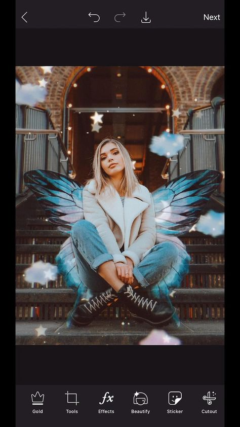 You don't have to 🦋wing it!🦋 #PicsArtReplays like this one guide you through designs tap-by-tap. Click through to apply it to any photo!