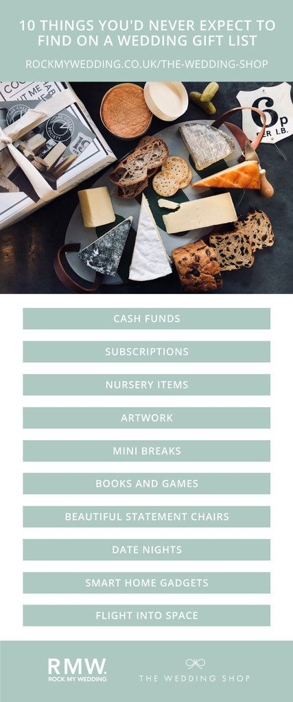 Flexible Wedding Gift List For Modern Couples From The Wedding