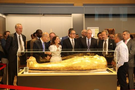 This News provided by Diplomatic 24.  Egypt's Antiquities Ministry has put the golden coffin of pharaonic priest Nedjemankh on display at the National Museum of Egyptian Civilization in Fustat after its recovery from the US. Nedjemankh gold coffin was stolen in 2011 by antiquities traffickers and sold to New York's Metropolitan Museum of Art in 2017 for about $4 million using … This News Egypt retrieves Nedjemankh's golden Coffin from USA appeared first on Diplomatic 24. Please visit Diplo