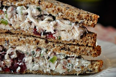 Terragon Chicken Salad with Pecans & Cranberries. I made this today....out of this world!!