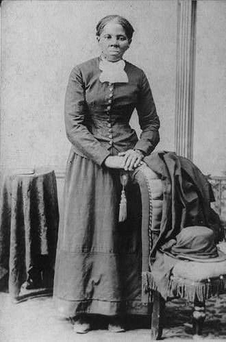 """Harriet Tubman  Underground Railroad Conductor and Women's Rights Advocate  Photograph of Harriet Tubman is labeled in the Library of Congress image as """"nurse, spy and scout."""""""