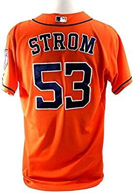 5be52b9be37e2 Amazon.com: 2014 Houston Astros Brent Strom #53 Game Issued Possible ...