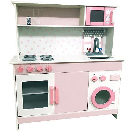 Pink Wooden Kitchen Toys Character George Wooden Toy