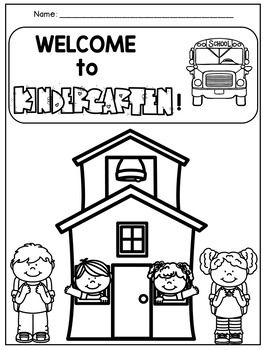 Back To School Kindergarten Coloring Pages Pack Welcome To