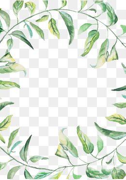 Zelenyj Png Vektory Psd I Png Dlya Besplatnoj Zagruzki Pngtree Watercolor Border Flower Border Png Green Watercolor