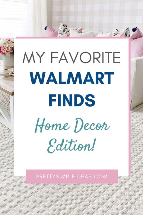 Click to check out my favorite Walmart finds! These Walmart home decor finds are beautiful, durable, and affordable. Everything from farmhouse decor to pretty florals these affordable home decor items will make your homes beautiful without breaking the budget. Home decor ideas. Orian rugs. The pioneer woman decor. #walmartfinds #walmarthomedecor #walmarthome #homedecorideas