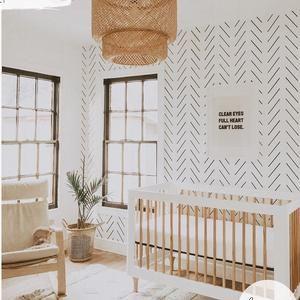 Minimal Nursery Removable Wallpaper Meadow Design Baby Room Etsy In 2021 Nursery Room Design Baby Room Decor Baby Room Design
