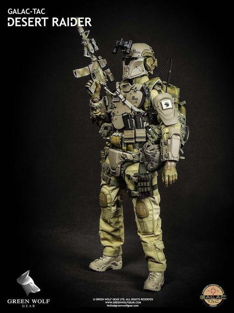 NEW Green Wolf GWG004 Galac Tac Desert Raider Action Figure 1//6 Collection Doll