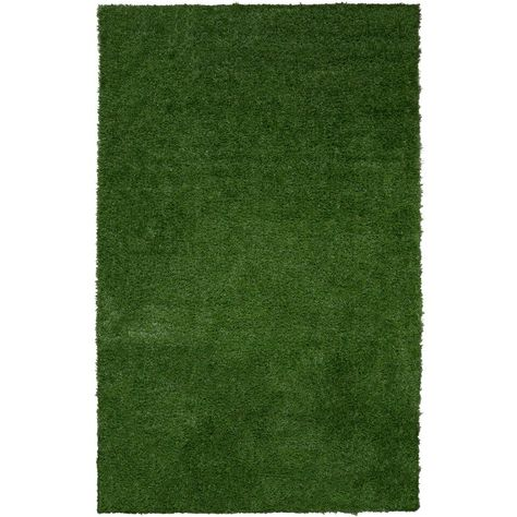 Ottomanson Garden Collection Green 5 Ft 2 In X 7 Ft Solid