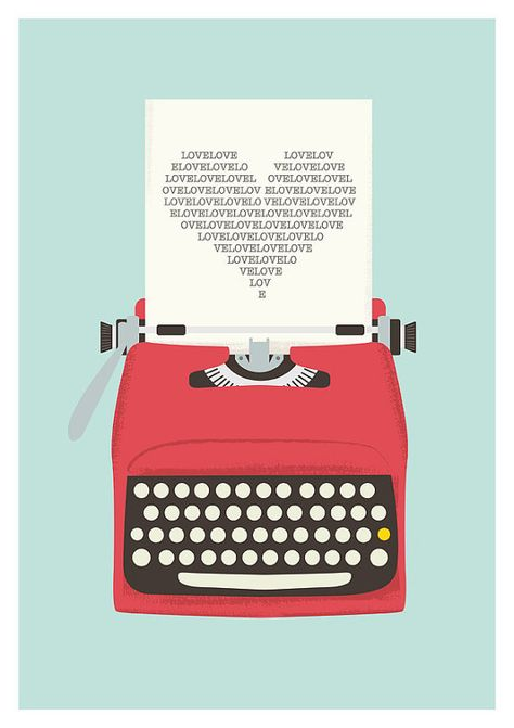 une machine à écrire