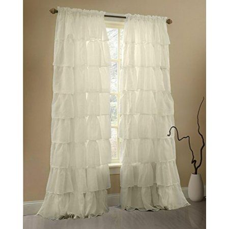 Home Shabby Chic Curtains Shabby Chic Apartment Ruffle Curtains