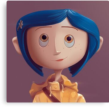 Coraline Canvas Print By Davexp In 2020 Coraline Art Coraline Characters Coraline Drawing