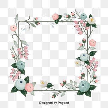 Pink Flower Frame Border Poster Background Flower Frame Flower Frame Png Flower Illustration