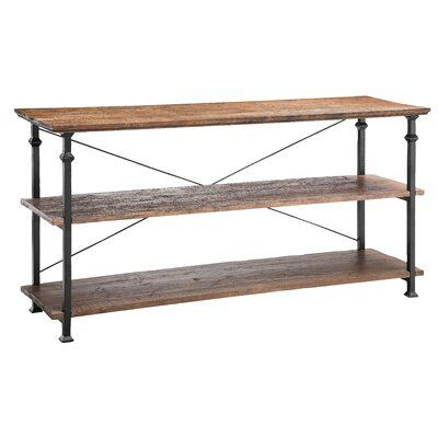 Union Rustic Wilmette Console Table Wood Console Furniture Metal Console Table