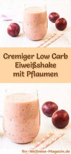 eiweia shake mit pflaumen selber machen ein gesundes low carb diat rezept fur