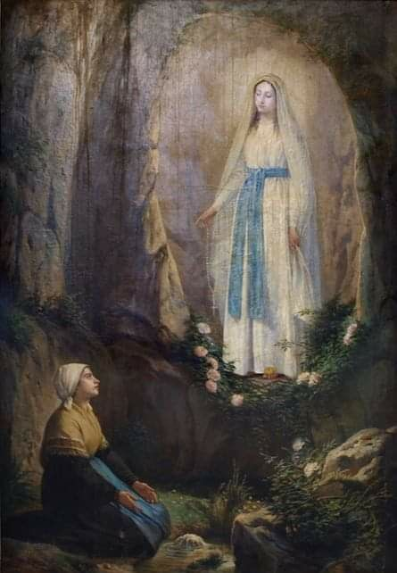 Our Lady Of Lourdes In 2020 Virgin Mary Art Blessed Mother Mary