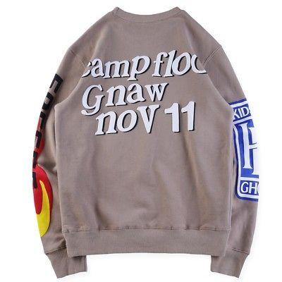 Ksg Freeee Kanye West Kid Cudi Kids See Ghosts Sweatshirt Kendall Jenner Smile Ebay Kanye West Kids Sweatshirts Kanye West
