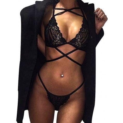 98f16aa5 Ropa interior de mujer. Lenceria sexy interior femenina sensual (encaje  tiras)