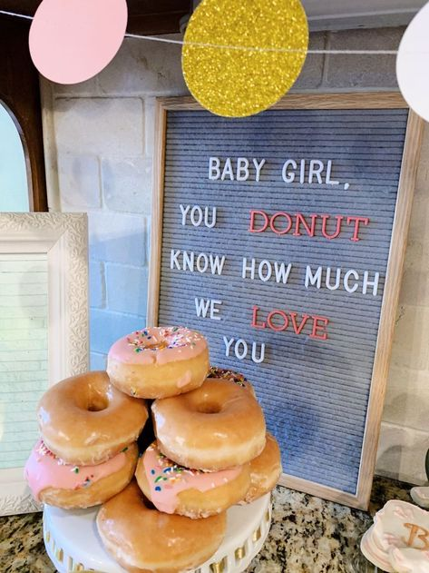 Home Decoration Ideas For Engagement Letterboard-Idee fr eine Babyparty .Home Decoration Ideas For Engagement Letterboard-Idee fr eine Babyparty . Baby Shower Fun, Baby Shower Gender Reveal, Baby Shower Parties, Girl Baby Showers, Baby Girl Shower Themes, Baby Girl Sprinkle, Sprinkle Party, Baby Sprinkle Shower, Donut Birthday Parties