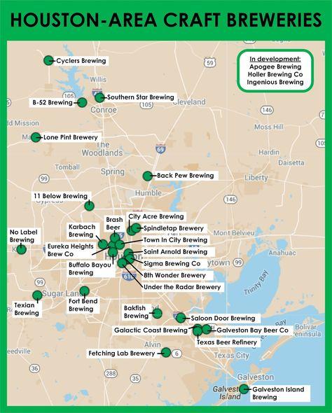 Map Of Texas Breweries.Pinterest