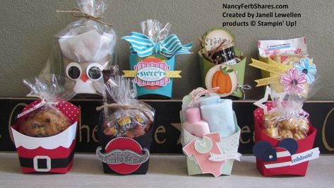 Janell's Fry boxes - Stampin' Up! Fry Box Bigz Die