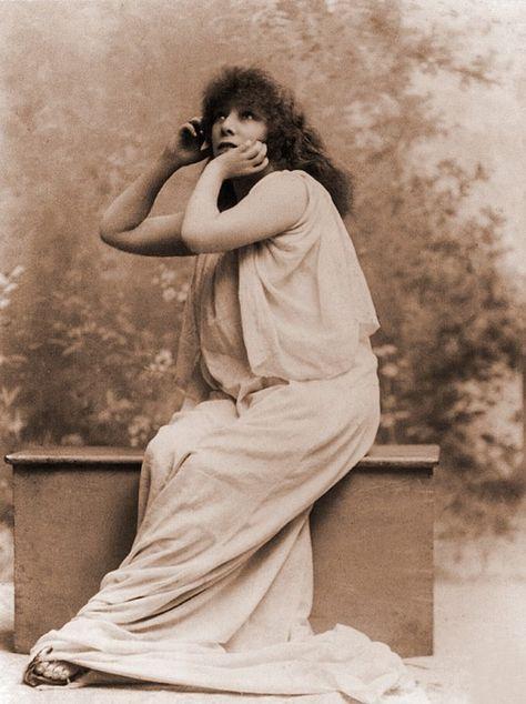 Sarah Bernhardt, French Actress in Greek Costume, 1896