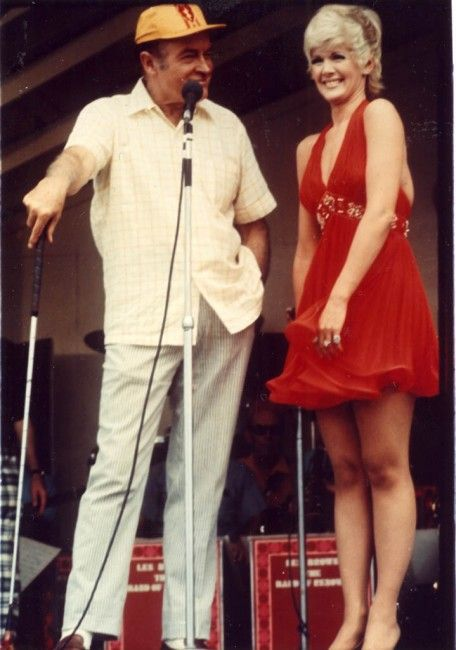 Bob Hope and Connie Stevens entertaining the troops on a USO tour 1969 -  Always enjoyed Bob and Connie Stevens was everyone's darling.