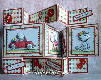 Snoopy tri shutter card.