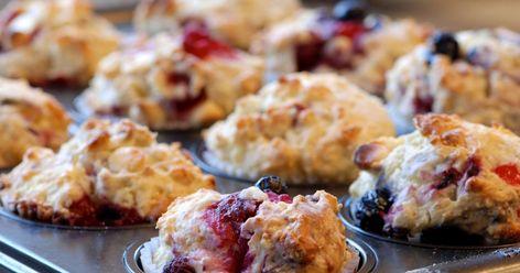 Muffins aux canneberges et aux bleuets